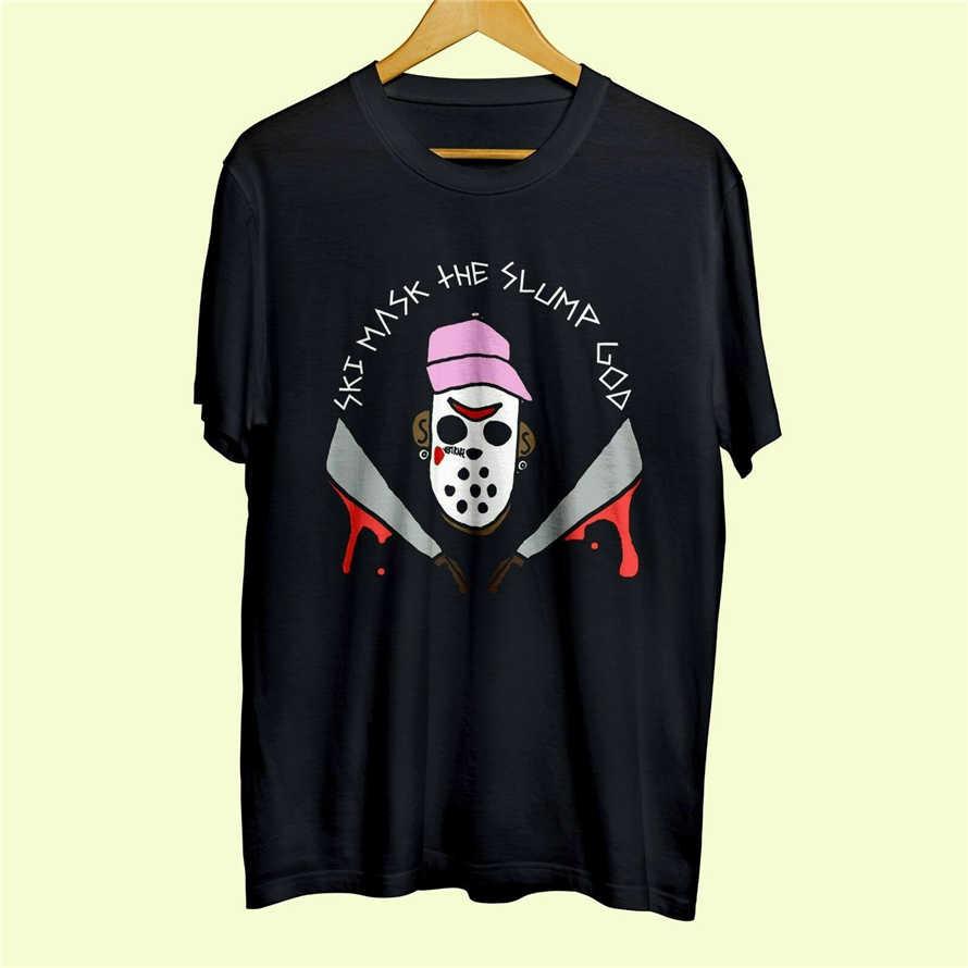 Лыжная маска The Slump God Американский раппер Черная Мужская футболка хлопок размер S