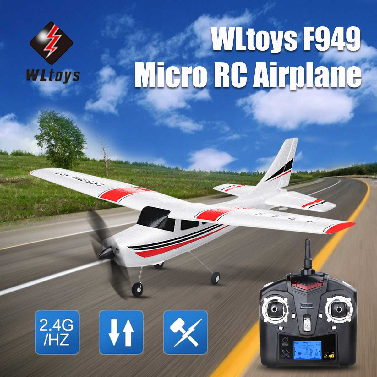 Wltoys F949 RC Airplans 3CH 2.4Ghz Micro RC Model Airplane RTF Left Hand Throllte Mode 2 RC Aircraft Model Toys For Children