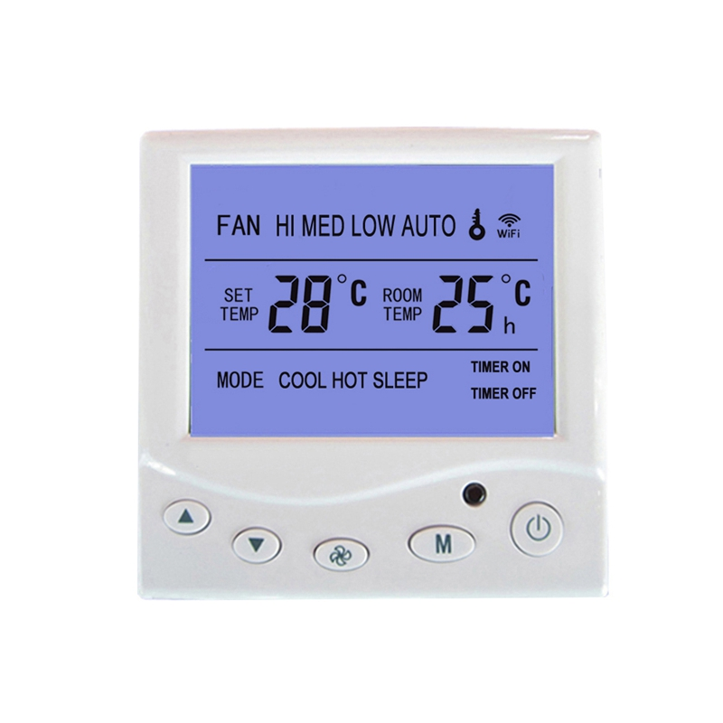 WiFi Thermostat Central Air Conditioning Fan Coil FCU Room Temperature Controller Cooling Heating 9A Smart Phone Remote Control