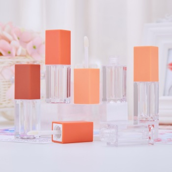 4ml Square Makeup Liquid Empty Lipstick Lip Gloss Tubes High Quality Frosted Cosmetic Packaging Container