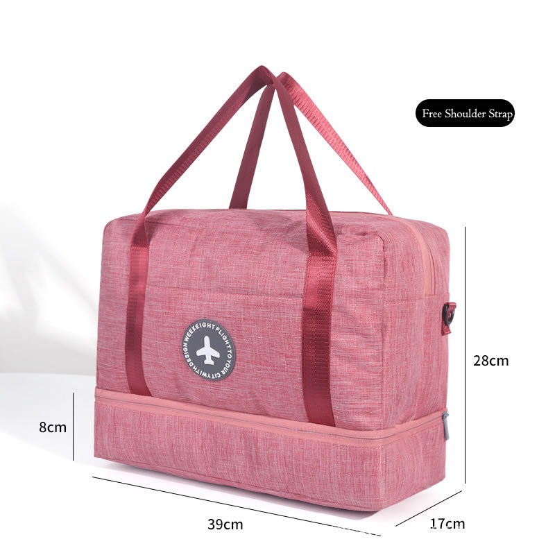 Hylhexyr водонепроницаемая обувь сумки большой емкости Оксфорд молния путешествия вещевой мешок одежды с разделителем для сухого и влажного сумки пакет для пляжа - Цвет: Бургундия