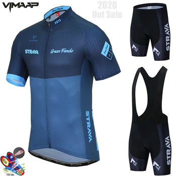 2021 pro equipe strava conjunto camisa de ciclismo 19d gel bicicleta shorts terno mtb ropa ciclismo men verão ciclismo maillot culotte roupas 1