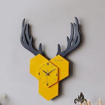 черно белые листы   Тихая Скандинавское искусство деревянные настенные часы современный дизайн белый креативный милый 3 D настенные часы черный большой Zegary Do ...