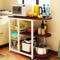 Kitchen storage rack microwave oven floor rack kitchen electrical shelf storage rack rack oven rack