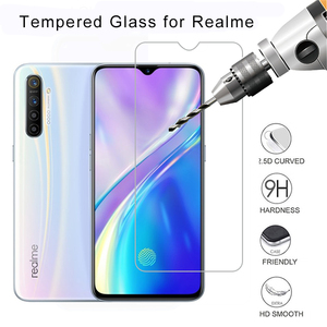 Protective Glass Screen Protector for Realme 5 Pro U1 Q Tempered Glass for Realme X2 Pro XT X Toughed Flim 9H HD Transparent(China)