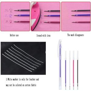 Image 5 - Caneta apagável com calor, marcador para tecido com recargas apagável com temperatura alta para tecido de costura couro PU e ferramentas de costura, 1 peça