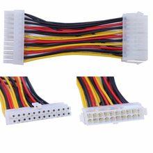 1 pc atx 20 pinos macho para 24 pinos fêmea cabo adaptador de alimentação para computador portátil 10166