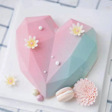 3D Heart Shape Diamond Love Chocolate Moulds Candy Mold For Wedding Baking Sponge Chiffon Mousse Dessert Silicone Candy Molds