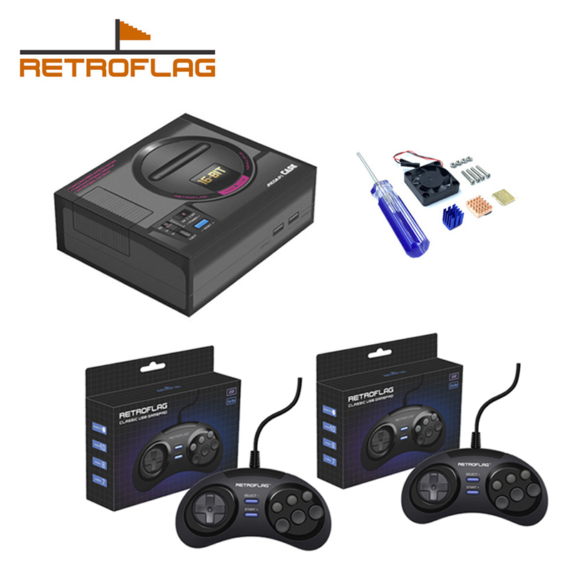 Retroflag MEGAPi Case Classic Wired USB Game Controller Gamepad for Raspberry Pi 3 B Plus (3B+) / 3B / 2B