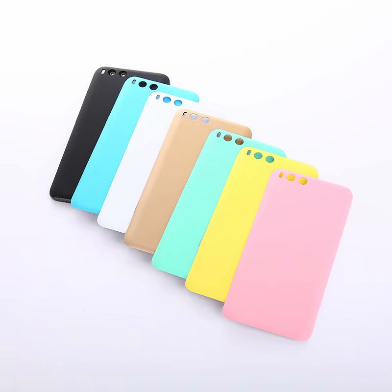 <font><b>Mi6</b></font> <font><b>Original</b></font> Back <font><b>Cover</b></font> For Xiami Mi 6 Xiaomi6 Housing Plastic Matte <font><b>Battery</b></font> Door Repair Replace Phone Rear Case + Logo image