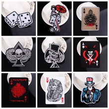 Poker Cards Patch Iron On Patches For Clothing Embroidered Patches Punk Patch Custom Venom Stripes Accessories On Clothes Badges custom embroidered patches customized logo factory direct embroidered iron on sew on patch welcome to custom your own patch