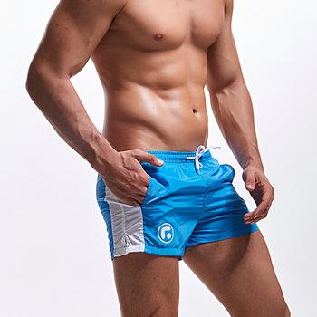 Męskie kąpielówki stroje kąpielowe kąpielówki dla mężczyzn Patchwork Gay Swimsuit Swim figi szybkoschnący strój do surfingu szorty plażowe Sunga tanie i dobre opinie DEENYT Poliester CN (pochodzenie) swimwear men swimsuits Pasuje prawda na wymiar weź swój normalny rozmiar S M L XL XXL
