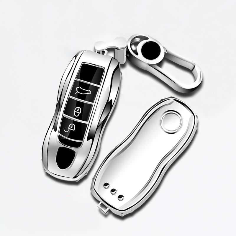 3pcs Gold Replacement Remote Fob Cover Key Case Trim for Porsche Macan