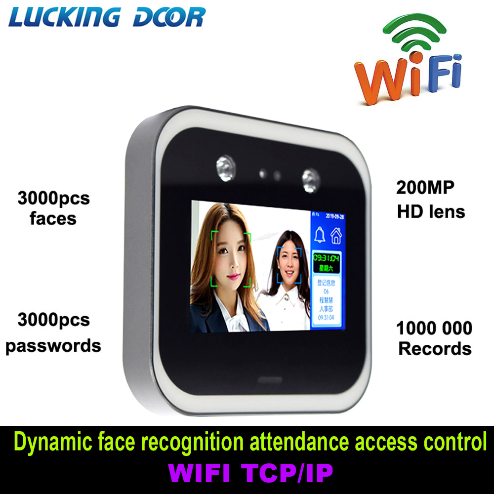 5 Inch Touch Screen Wifi Dynamic Face Recognition Time Attendance Access Control Employee Time Clock Face Dynamic Attendance