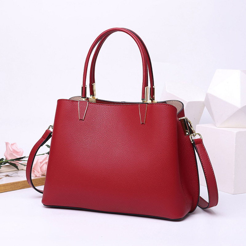 Women Handbags Bags Made Of Genuine Leather Bag For Ladies White Women Tote Purse High Quality Shoulder Crossbody Bags Black Red