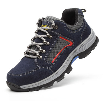 Men Casual Breathable Steel Toe Caps Work Safety Shoes Anti-pierce Building Site Worker Security Shoes