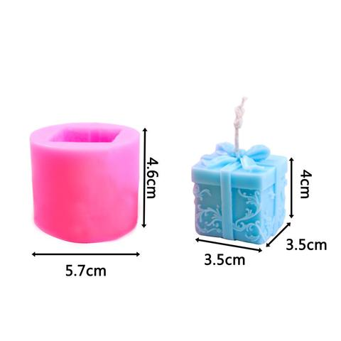 3D Christmas Gift Box Shape Candle Silicone Mold DIY Soap Aroma Candle Mold Craft Tool Handmade Soap Mold Silicone Mold Multan