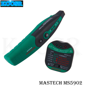MASTECH MS5902 110V/220V American specification Automatic Circuit Breaker Finder Socket Tester W/ Analogue Receiver & Flashlight(China)