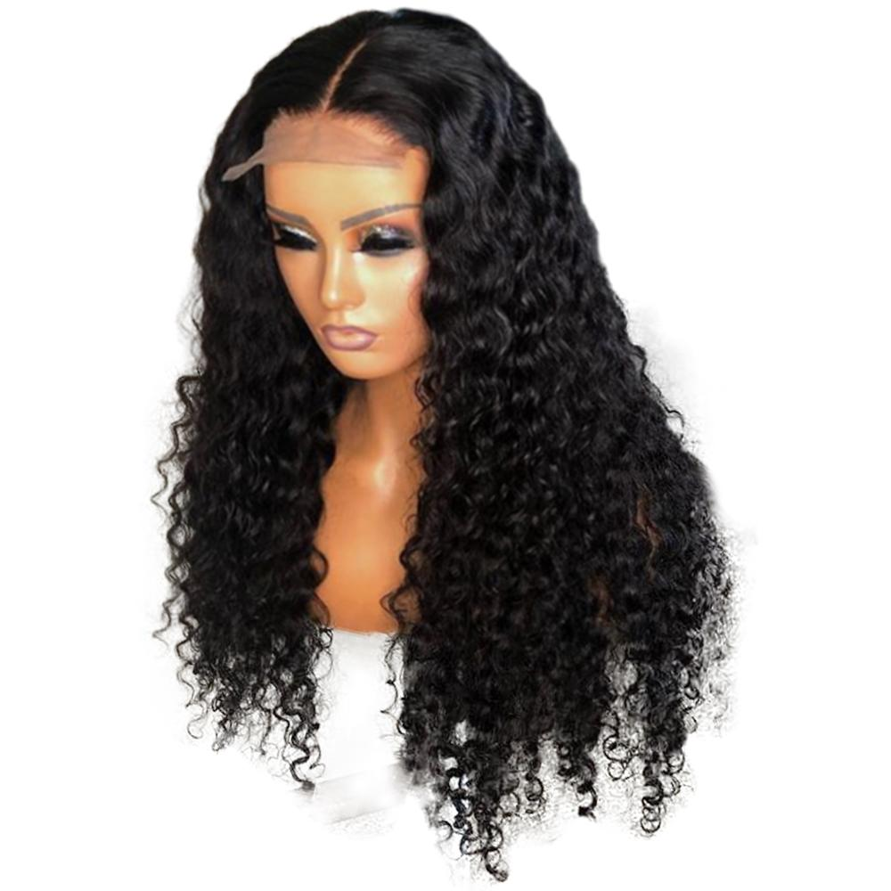 Human Hair Wig Peruvian Remy PrePlucked With Baby Hair 4x4 Lace Closure Wig Lace Front Human Hair Wigs Deep Wave Wig