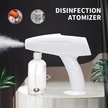 Pistola sem fio desinfetante pulverizador handheld azul-ray nano vapor esterilização nebulizadores 2m spray distância sanitizing pulverizador novo