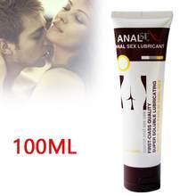 Huile de sexe pour adultes, 1 pièce de 100ml, Gel de lubrification anale en soie, analgésique, Anti-douleur, à Base d'eau