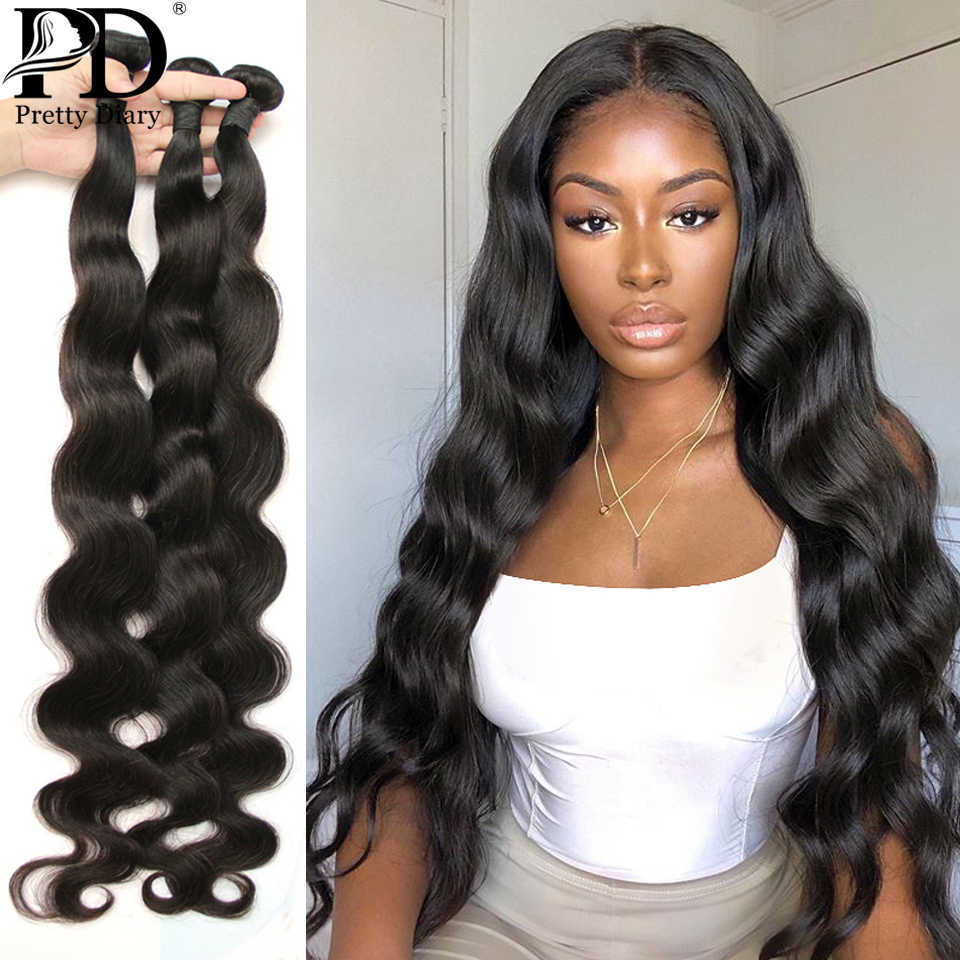 Braziliaanse Body Wave Haar Weave Bundels 100% Human Hair Bundels 30 32 34 36 38 40 Inches Remy Raw Virgin haar Weave Extensions