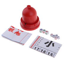 Sic Bo + Fish--Prawn Classic Gambling Game Set with Automatic Dice Cup
