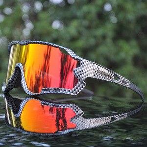 Image 1 - Брендовые Новые поляризованные велосипедные очки, велосипедные очки для горного и дорожного велосипеда, очки для велоспорта на открытом воздухе, спортивные солнцезащитные очки с 3 линзами