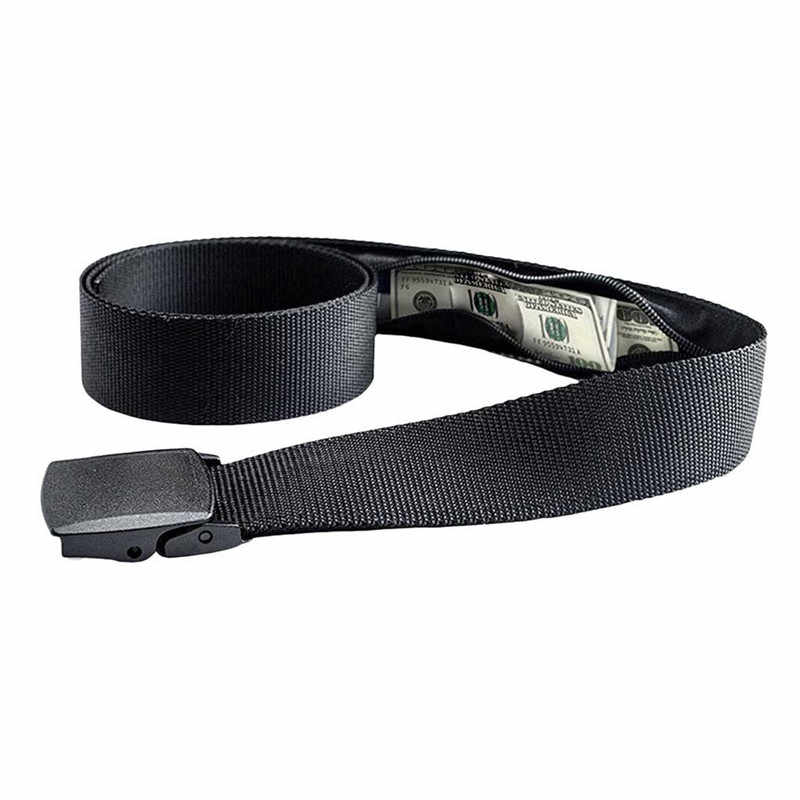 New Travel Nascosta Cash Money Belt Bag Anti Theft Marsupi casual di Nylon Delle Donne Degli Uomini Della Cinghia di Anti-Furto Portafoglio Cintura borse Fanny