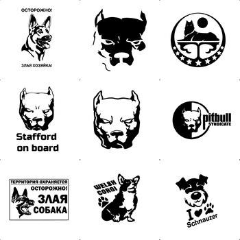 Pegatinas de coche con forma de perro y calcomanías para motocicleta divertida, accesorios para coches adhesivos de vinilo