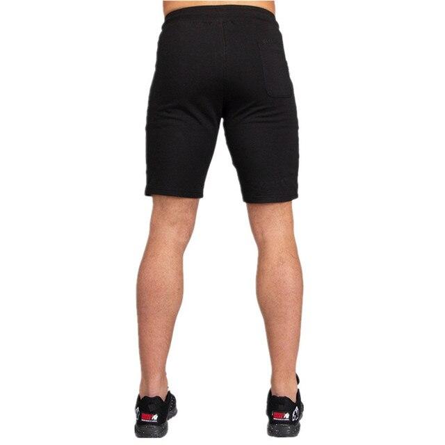 Men Running Sport Cotton Shorts Gym Fitness Workout Training Sportswear Male Short Pants Knee Length Beach Sweatpants Bottoms 3