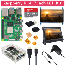 Raspberry Pi 4 Model B 2 4 8 GB RAM + 7 inch Touch Screen + Holder + 64 32 GB SD Card + Fan + Power  + HDMI Cable for RPi 4 B