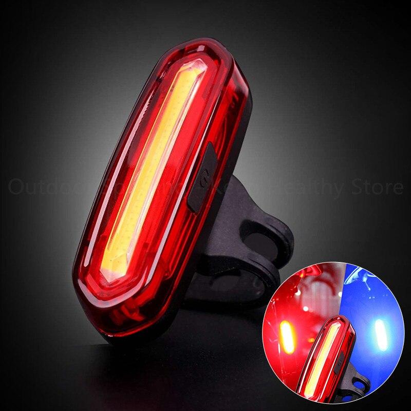 Задний фонарь для велосипеда на колесах, водонепроницаемый светодиодный фсветильник рь для езды на велосипеде, зарядка через Usb, светильник...