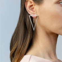 New Earrings Fashion Simple Stud Personality Trend After The Triangle Wholesale Selling Womens
