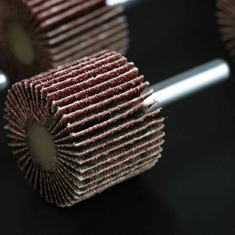 10pieces Flap Wheel Sanding Disc Grit 80 CNC Abrasive For Metalworking Deburring