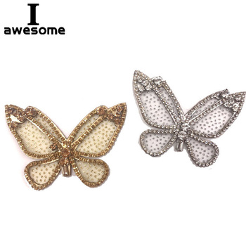 Mesh Point Butterfly Bridal Wedding Party Shoes Accessories High Heels Sandals Boots Flats DIY Manual Bling Shoe Decorations conventional manual call point