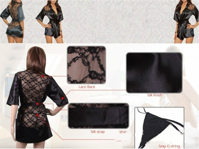 New Hot Sexy Lingerie Robe Dress Women Porno Lingerie Sexy Hot Erotic Underwear Plus Size Nightwear Sex Costumes Exotic Apparel 3