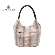 Hot Sale Women Bags Pu Leather Shoulder Bag Serpentine Womens High Quality Ladies Handbags Luxury Designer Tote bags With Tassel
