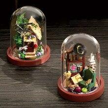 Cutebee diy casa de bonecas de madeira casas de bonecas em miniatura kit de móveis brinquedos para crianças ano novo presente natal casa