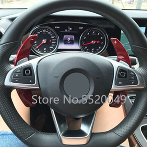 Image 5 - T Carbon Paddle Shifter Extension For Mercedes Benz AMG A45 C63 CLA45 GLE GLA CLS GLS W203 W204 W205 W213 W218 Steering Wheel