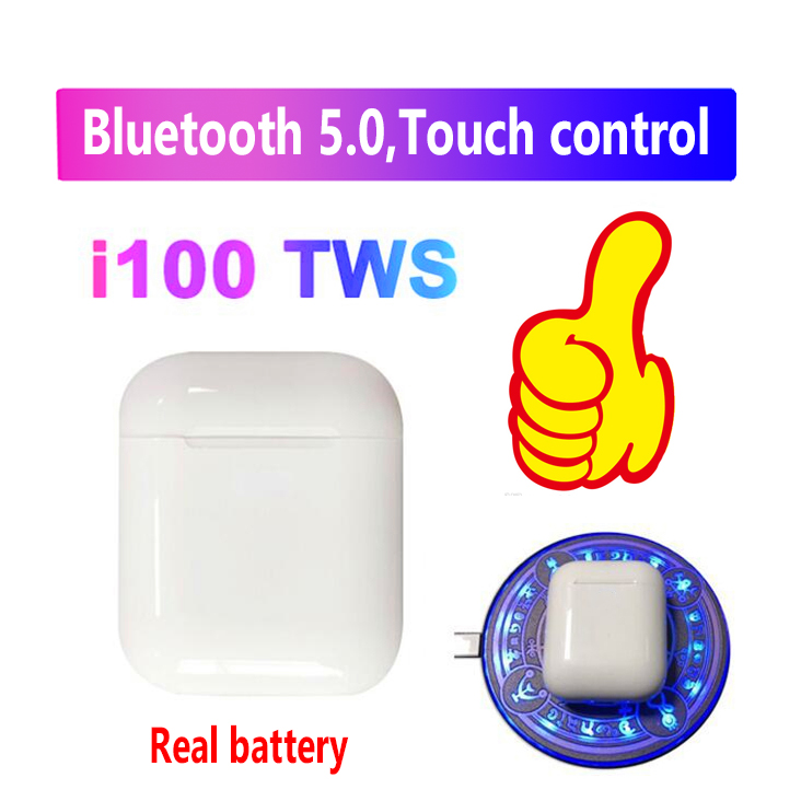 Original i100 TWS réel 1:1 taille Bluetooth 5.0 casque 6D basse contrôle tactile écouteur sans fil PK i30 i10 i60 i80 i90 i20 i21tws