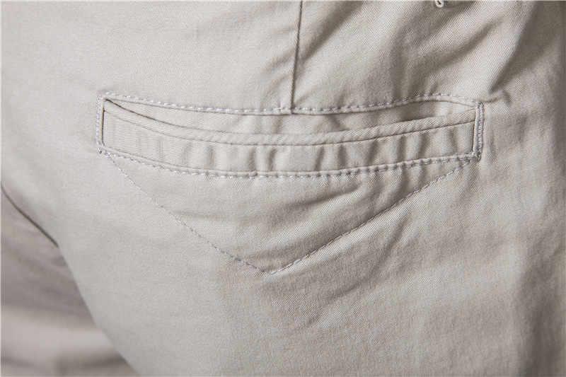 2020 neue Sommer 100% Baumwolle Solide Shorts Männer Hohe Qualität Casual Business Social Elastische Taille Männer Shorts 10 Farben Strand shorts