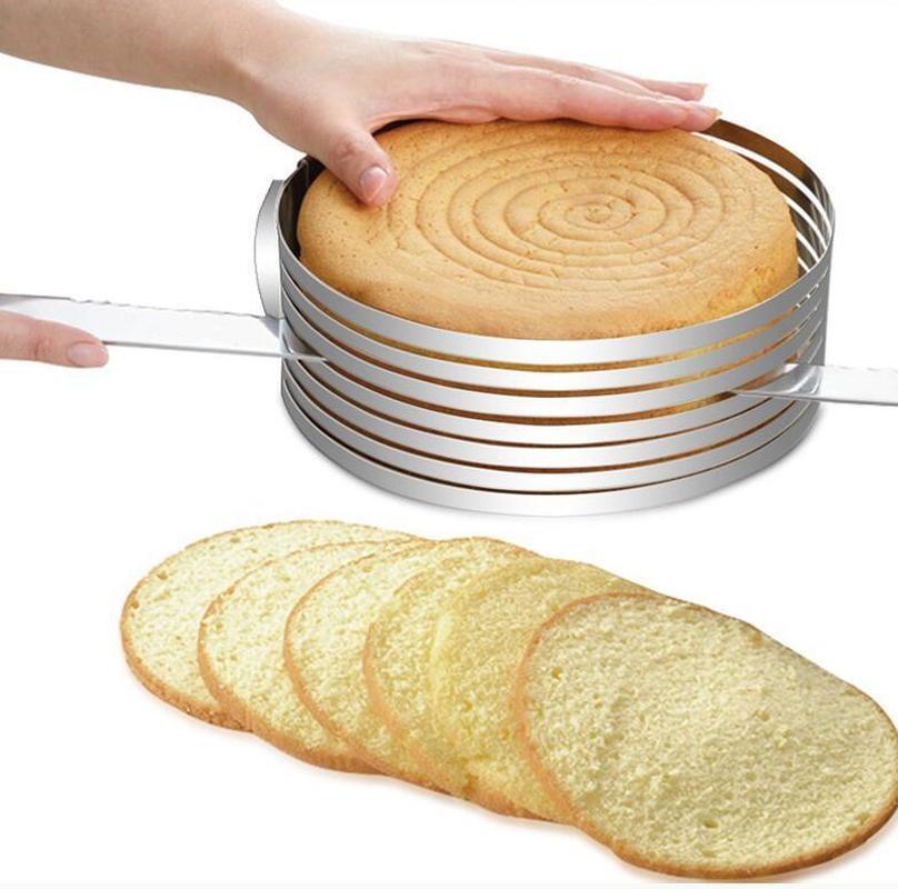 DIY Регулируемый нож для разрезания торта резки форма для выпечки, круглая хлеб торт ломтерезка для резки фиксатором Слои Кухня выпечки Пособия по кулинарии аксессуары        АлиЭкспресс