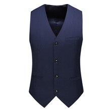 Платье жилеты для мужчин Slim Fit мужские костюм жилет мужской повседневный жилет жилет формальный деловой без рукавов куртка Chaleco Hombre