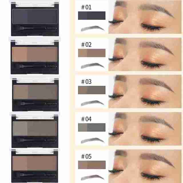 Double Color Eyebrow Powder Professional Makeup Palette Eyebrow Stamp Eye Brow Enhancers Eye Brows Shadow Make Up Brow Powder 1