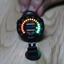 Car-Charger Type-C pd Waterproof Outlet SUV 18W USB with LED Voltmeter On-Off-Power-Switch