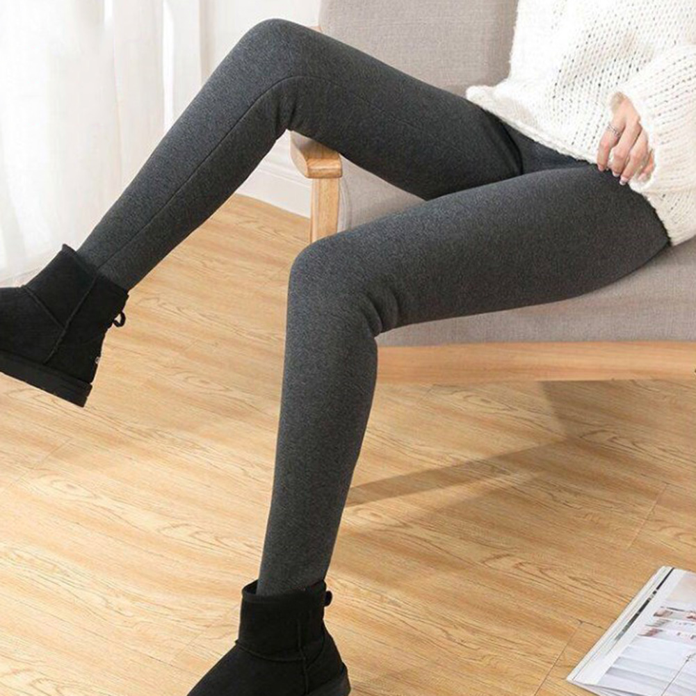 NORMOV Women's Winter Warm Leggings Super-thick High Stretch Lamb Cashmere Leggins High Waist Skinny Trousers
