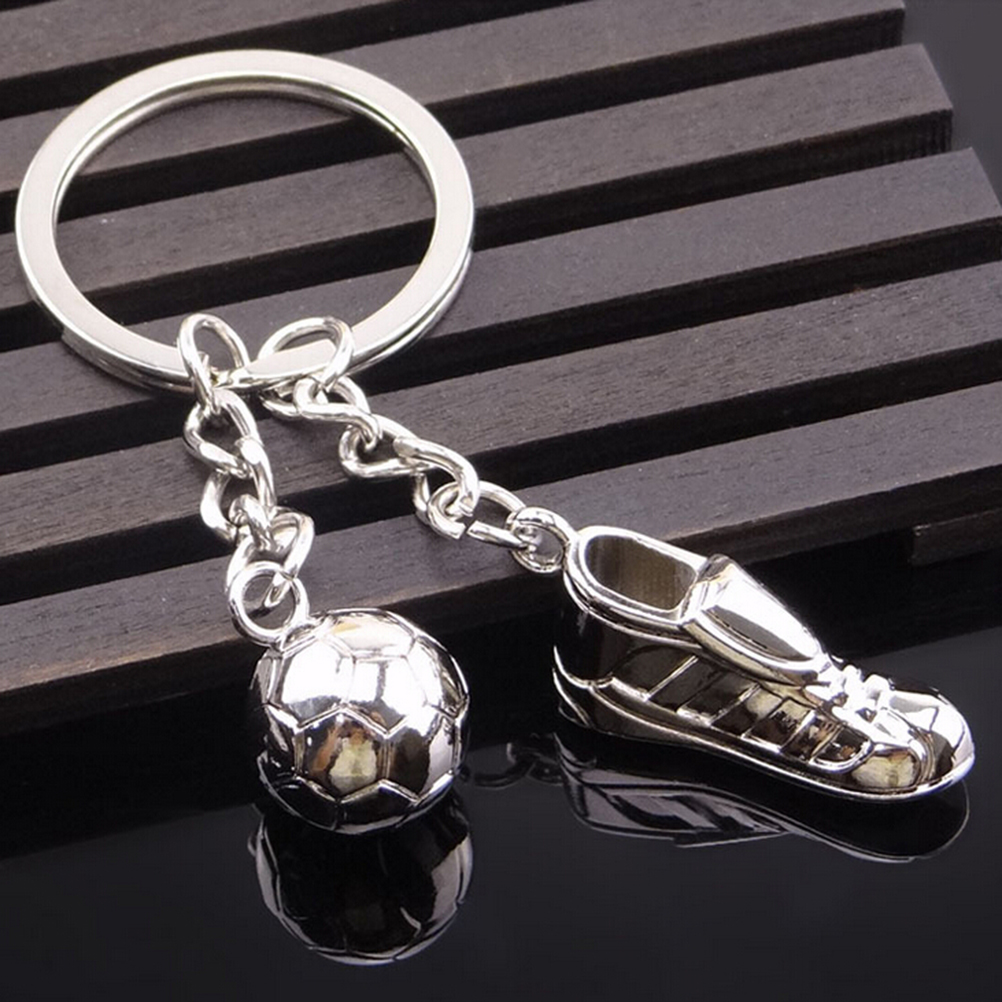 Football Badge Football Sport Hanging Chain Unique Soccer Shoes Football Ball Stainless Steel Metal Chain