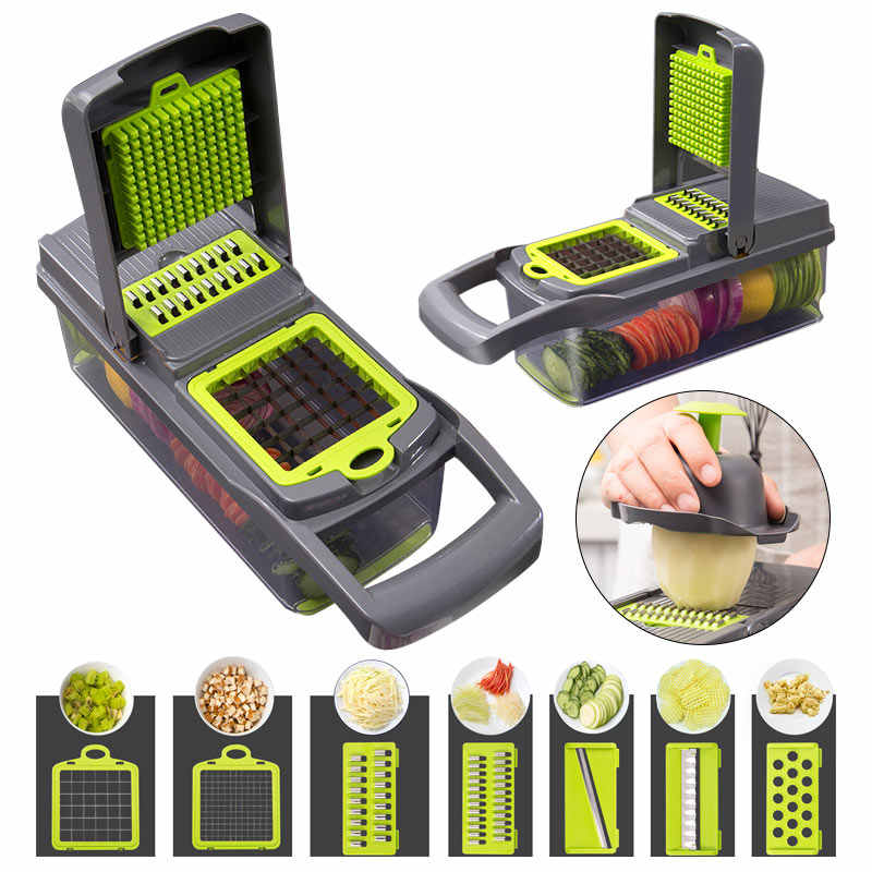 Vegetable Cutter Dapur Aksesoris Baja Blade Mandoline Slicer Pengupas Kentang Wortel Cheese Slicer Handguard Buah Kitchentool