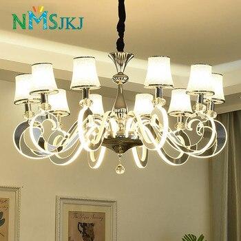 Lustre en LED à montage semi-encastré de Style moderne avec abat-jour en acrylique pour chambre à coucher salle à manger